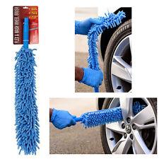 FLEXIBLE Xtra Long Mircofibre Noodle Chenille Alloy Wheel Cleaner Car Wash Brush