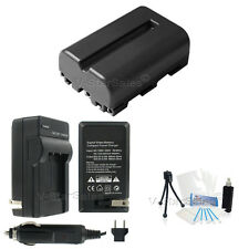 NP-FM500 Battery + Charger + BONUS for Sony Alpha SLT-A58 A57 A99 A100 A560 A580