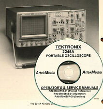 Tektronix 2245A Oscilloscope, Manual set, 3 Volumes, Operating & Service