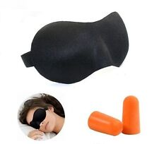 Black Sleeping Eye Mask Blindfold and Earplug Test Relax Sleep Cover Light Guide