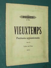 "Partitions Violon et vilon acc. piano  ""Fantasia Appassionata"" VIEUXTEMPS"