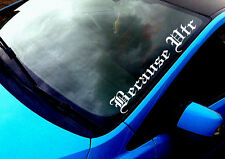 Because VTR (2) ANY COLOUR Windscreen Sticker Saxo C2 C1 Citroen Car Vinyl Decal