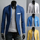 Billig Mode Herren Sakko Slim Fit Mantel Freizeit Business Anzug Blazer Jacken
