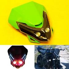 Universal Motorcycle LED Streetfighter Green Headlight Head Lamp Fairing Signals