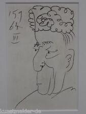 """Pablo PICASSO """"LE GOUT DU BONHEUR"""" 15.09.1964 - 03 (WZ) inkl. Passepartout !"""
