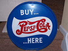 """24"""" Wide Barrel Top Sign-Buy Pepsi Here-Hand Painted - Man Cave wall hanging"""