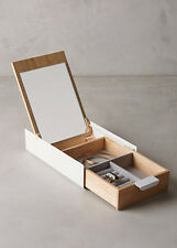 New Anthropologie Reflection Jewelry Box White/Wood Modernist Minimal By Umbra