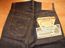 "Vtg. Original 60s LEVI's 501E S Type S/S  Big E Red Line W 27""x L 29"" Dead stock"