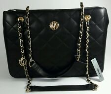 BNWT DKNY Donna Karan Black Quilted Lamb Leather Shoulder  Bag RRP £335.00