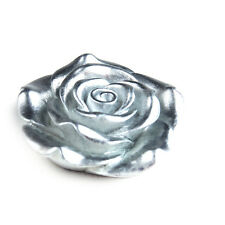 50pcs Silver Large Rose 42mm Resin Flower with Hole for Chunky Necklace Beads