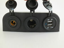 Double USB 12V Merit Fridge & 12V Cigarette Power Socket Surface Mount