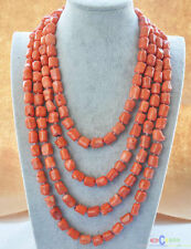 "S1515 natural 100"" 13x15mm massive pink coral NECKLACE"