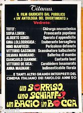 manifesto 2F film UN SORRISO UNO SCHIAFFO UN BACIO IN BOCCA E.Lucherini 1975