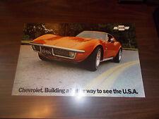 1972 Chevrolet Corvette Original Advertising Poster