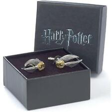Harry Potter - Golden Snitch Silver Plated Cufflink Set - New Official In Box