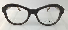 Chanel 3299 Brown 1484 Plastic Round Eyeglasses Frame 50-19-140 Italy Authentic
