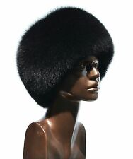 Exclusive Saga Furs Jet Black Fox Full Fur Cossack Style Women's Hat