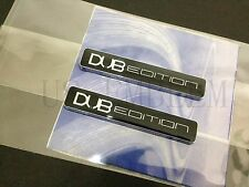 2PCS DUB EDITION EMBLEM BADGE FOR FORD MUSTANG FOCUS FIESTA EDGE