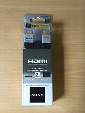 Genuine SONY 2M Flat High Speed HDMI Cable 1.4V 3D HDTV PS4 PS3 TVBox Sky XBOX