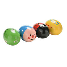 Wooden Sand Eggs Children Kids Baby Educational Instruments Musical Toys