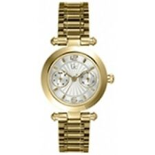 New Authentic Guess collection I25011L1 Gold Stainless-Steel Swiss Quartz Watch