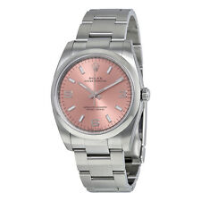 Rolex Mens Oyster Perpetual Pink Dial Automatic Swiss Made Watch 114200PASO