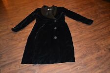 C8- Morgan Taylor Evening Black Velvet Long Sleeve Jacket Size 4