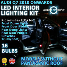 Audi Q7 2009 & gt Led Luz Interior Upgrade Kit Completo Conjunto De Bulbo Xenon Smd Blanco
