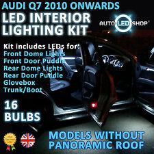 AUDI Q7 2009  LED INTERIOR LIGHT UPGRADE COMPLETE KIT SET BULB XENON WHITE SMD
