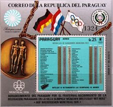 PARAGUAY 1973 Block 199 S/S C353 Summer Olympics 1972 Medals total results MNH