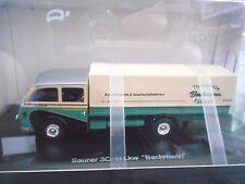 SAURER 3C-H 3C H Truck LKW Bachmann Pritsche Plane Highend Resin Schuco 1:43