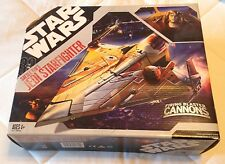 STAR WARS SAESEE TIIN JEDI STARFIGHTER! MIB! RARE HASBRO SHIP!