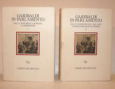 Risorgimento - Garibaldi in Parlamento 2 voll. 1982 ex libris Porcari Deputati