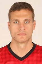 Football Photo NEMANJA VIDIC Man Utd 2012-2013