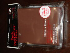 YUGIOH ULTRA PRO SMALL DECK PROTECTOR SLEEVES X 60 BROWN