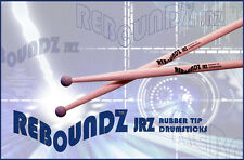 REBOUNDZ JRZ - RUBBER TIP PRACTICE DRUMSTICKS / IDEAL ROCKBAND DRUM STICKS