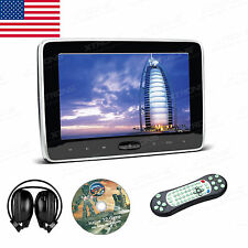 "1Pcs Headrest 10.1"" Car Monitor Digital Screen Pillow Video DVD Player+Headphone"