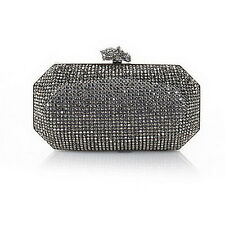 """Real Collectibles by Adrienne """"Remarkable"""" Jeweled Evening Bag HEM/CLEAR 421688"""