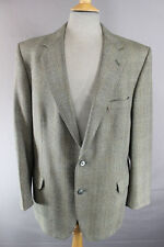 MAGEE PURE WOOL IRISH THORNPROOF CHECKED GREEN TWEED JACKET 44 INCH