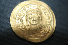 ANCIENT BYZANTINE GOLD SOLIDUS JUSTIN 6th Century AD