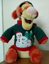Tigger Plush Christmas Snowman Sweater Disney Store Exclusive
