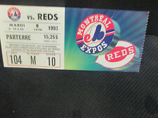 MLB- MONTREAL EXPOS V. CINCINNATI REDS-JUNE 8,1993 TICKET STUB IN FRENCH