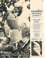 PUBLICITE ADVERTISING  1965    VALISERE  soutien gorge TAHIK sous vetements