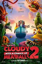 Cloudy With A Chance Of Meatballs 2 ORIGINAL película PÓSTER Una Cara cool