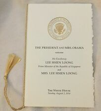 PRES OBAMA WHITE HOUSE PROGRAM PM SINGAPORE LEE HSEIN LOONG STATE  ARRIVAL