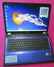 FAST! Blue HP g7 pavilion laptop Bluray Intel I7-620m 2.66-3.3ghz 4GB ram 5
