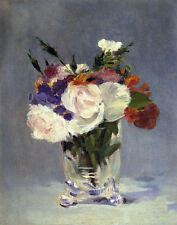 Manet Edouard Flowers In A Crystal Vase #2 Print 11 x 14 #5792
