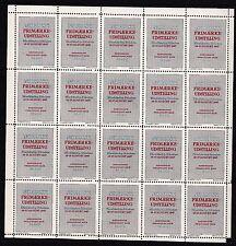 Denmark full sheet of stamps NH 1947