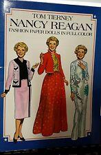 Nancy Reagan Fashion Paper Dolls in Color - Tom Tierney - 1983 Uncut!!!  NICE!