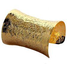 Bracciale Metallo Armilla 9,5 cm larghezza color oro NUOVO BG74